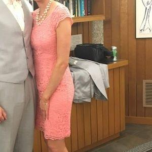 David's Bridal All Over Lace Bridesmaid Dress